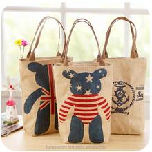 designer jute shopping bags/ reusable bags wholesale