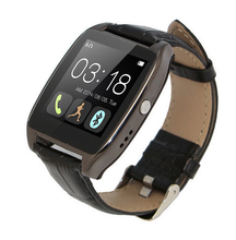2015 Newest Leather Bluetooth Smartwatch W3 Smart Watch for iPhone 4/4S/5/5S Samsung S4/Note 3 HTC Android Phone Smartphones