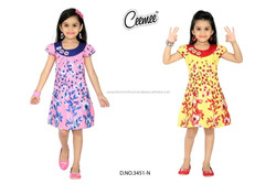 100% Cotton Woven Girls Frock -Made in India