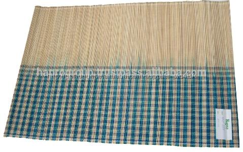 Handmade retangular de bambu placemat