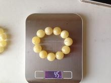 100% natural white amber bracelet