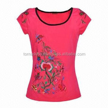 Womens Embroidered T Shirts