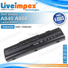 6 Cells Laptop Replacement Rechargable Battery for Dell Vostro A840 A860 A860n Notebook Laptops