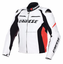 Racing White and Orange Florocent D1 Leather Motorbike/motorcycle motogp jackets