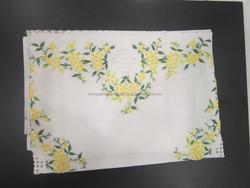 Silk table mat handmade easy to washing - Vietnam origin - flower design