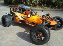 HotSale Baja 5b SS 29cc metal roll cage with DDM pipe GT3B 2.4G LCD Transmitterat $448/pc