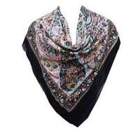 Evening Scarf Square Scarve Black Stole Fashionable Cotton Wrap India GiftSFC164