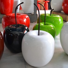 Resin Decoration Apple, Pear, Cherry with stem seperatelly and more fruits deco with many colors and sizes from 13cm to 56cm
