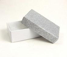 smart silver glitter gift box with cotton foam