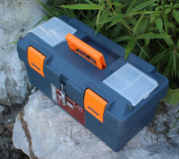 370x190x185mm blue Rectangle ABS Plastic Tool Case