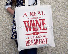 wholesale cheap price organic cotton canvas tote bag
