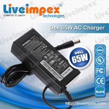 For dell 65w laptops chargers notebook high quality with CE, UL, FCC, GS, ROHS certificate 19.5V 3.34A out put