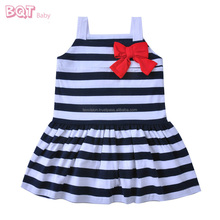 Stylish Good Quality Spaghetti Strap Baby Girl Party Dancing Dress Children Frocks Designs