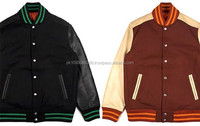 Custom Men Varsity Jacket / Versity Man Jacket Wholesale / Winter Leather Jacket leather pelle jackets