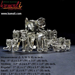 Lampwork - Flameworking Glass Elephant Family - Crystal Home Decor - Souvenir Elephant