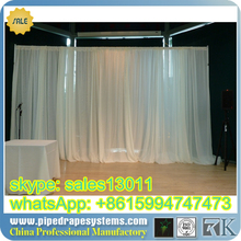 Stong quality used pipe drape/Portable Trade Show pipe drape/modular exhibition booth
