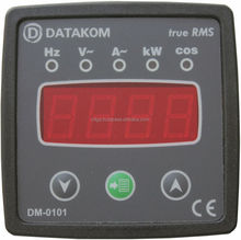 DATAKOM DM-0101 72x72 Single-Phase Digital Multimeter Panel (1 Phase)