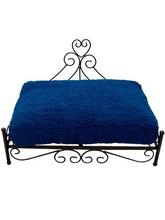 raised heart pet bed blue