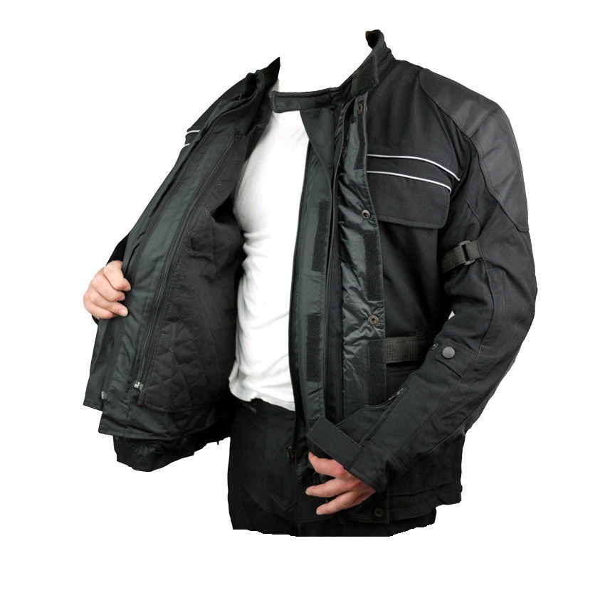 Commuting Motorcycle Suit Mens Black All Season Cordura Touring Bmw Commuter Scooter Motorcycle Jacket
