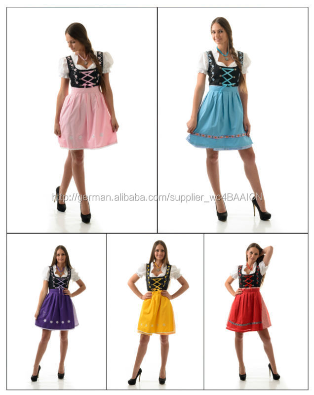 dirndl kost m mit einer bluse und rock 3 st ck kleid. Black Bedroom Furniture Sets. Home Design Ideas
