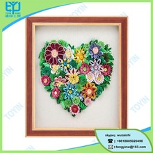 nice colorful paper flower wall hanging picture