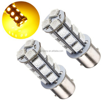 Lowest Price Amber Yellow 1156 BA15S 18 SMD 5050 LED Bulb Car Auto Light Source Turn Tail Parking Lamp DC12V