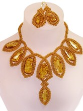 amber necklace and earings set
