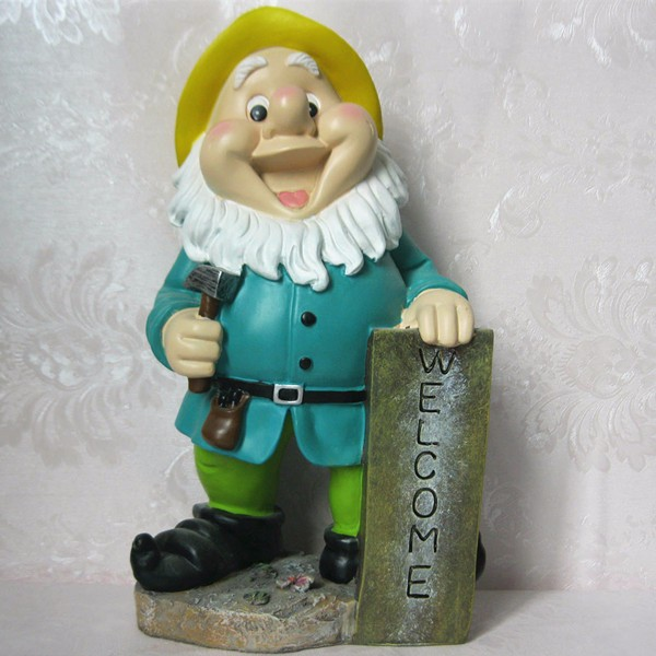 Resin garden sculpture welcome gnomes onnament for sale