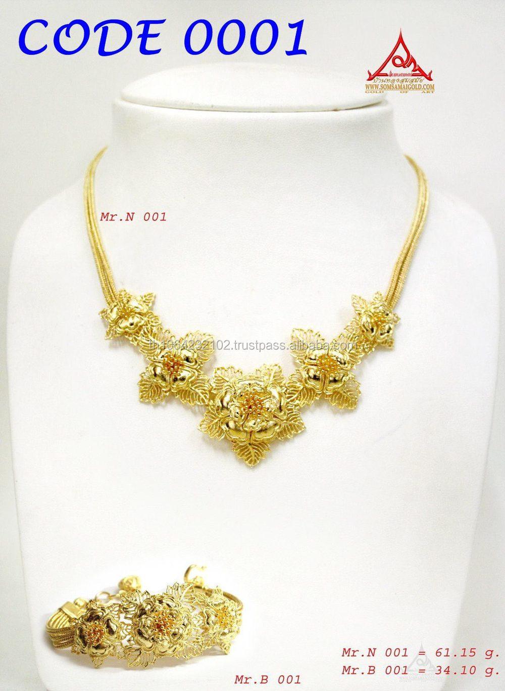 collier or thailandais