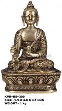 Exotic artistic golden Bhaishajyagaru Medicine Buddha
