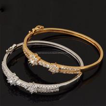 Fashion Jewelry Women Gift 18K Gold&Platinum Plated Luxury AAA Zirconia Bangle