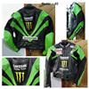 Kawasaki Racing team Cowhide leather motorbike Jacket