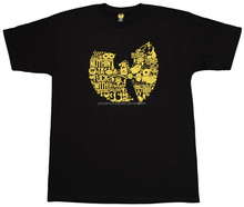 Yellow Screen Printing Black 100% Cotton T-shirt