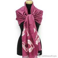 Customized raw pure silk scarf, Silk Scarves Manufacturer Vietnam, 100% pure silk
