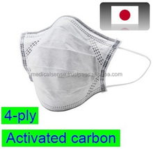 Reliable and 4-ply disposable face mask with activated carbon for infection prevention