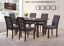 Dining Set , Dining Table , Dining Chair , Leaf Top Extension