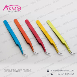 Get 2015 Chrome Colors Eyelash Extension Tweezers With Smart Packaging from AKMO Instruments