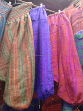 WOOLEN HAREM HIPPIE BOHO WINTER WEAR TROUSER PURPLE STRIPED PATTERN PANTS