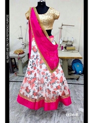 BOLLY WOOD LEHENGA WITH BLOUSE ATTACHED