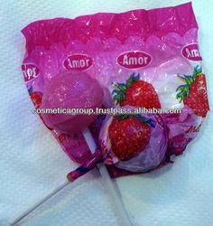 Strawberry Lollypops Fruit Flavor Lollipop