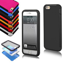 2 Layer Built-in Screen Protector Hybrid Hard & Soft Back Case Cover for iPhone 6 USA, Los Angeles Wholesale