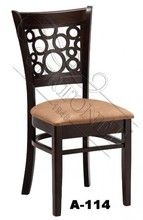 carved back wood hotel chair