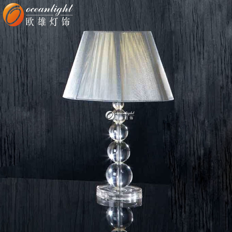 lamp a hotel style fabric lamp with modern stylish metal. Black Bedroom Furniture Sets. Home Design Ideas