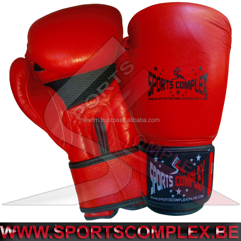 Fitness Gloves In Spain: Boxing Gloves Cowhide Leather 12oz Muay Thai Kickboxing