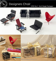 Doll house furniture living room 1:12 scale down size chairs CP01 series