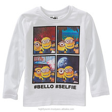 Nice looking long sleeve printed children t shirt