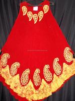 Royal red Selling Original Trendy Latest Design Umbrella Dress in100% Rayon Crepe Indian Umbrella Dresses cut in India