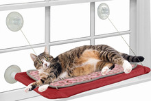 Winodow mounted cat bed , with removable cushion