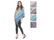 Wholesale Clothing Women's Rainbow Chevron Pullover Poncho