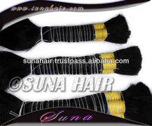 100% Brazilian black color natural vergin bulk human hair extension